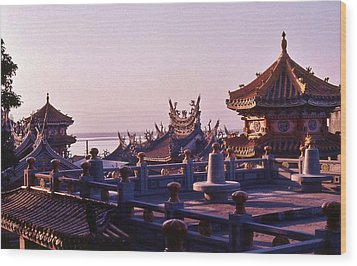 Wood Print featuring the photograph Temple Near Peitou Taiwan by Craig Wood