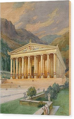 Temple Of Diana Wood Print by English School