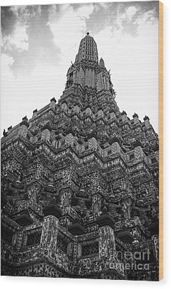 Wood Print featuring the photograph Temple Pillar by Thanh Tran