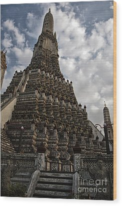 Wood Print featuring the photograph Temple Tower by Thanh Tran