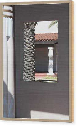 Temple Window Wood Print
