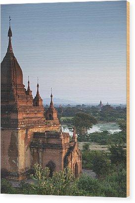 Temples Of Bagan Wood Print by Nina Papiorek