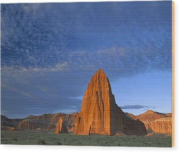 Temples Of The Sun And Moon Wood Print by Tim Fitzharris