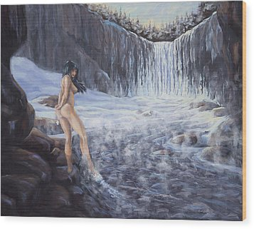 Temptation Of Ice Wood Print by Kurt Jacobson