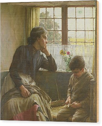 Tender Grace Of A Day That Is Dead Wood Print by Walter Langley