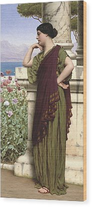 Tender Thoughts Wood Print by John William Godward