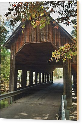 Wood Print featuring the photograph Tennesse Covered Bridge by Janice Spivey