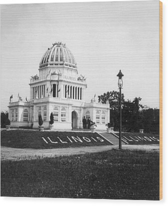 Tennessee Centennial In Nashville - Illinois Building - C 1897 Wood Print by International  Images