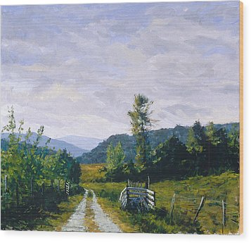 Tennessee Farm Wood Print by Mark Lunde