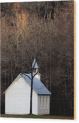 Tennessee Mountain Church Wood Print by Skip Willits