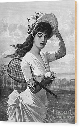 Tennis, 1887 Wood Print by Granger