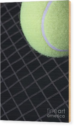 Tennis Anyone Wood Print by John Van Decker