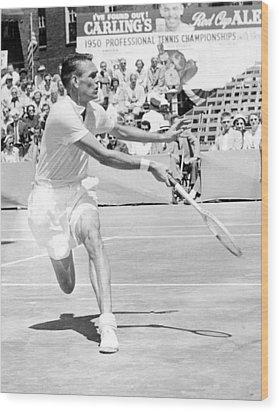 Tennis Champion Jack Kramer, Playing Wood Print by Everett