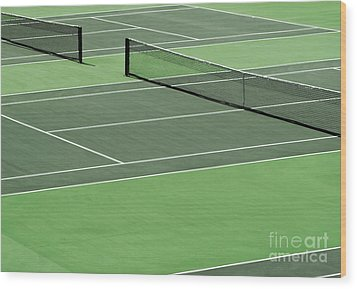Tennis Court Wood Print by Blink Images