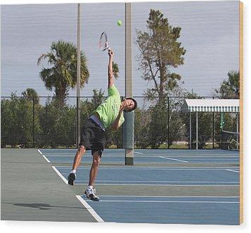 Tennis Serve Wood Print