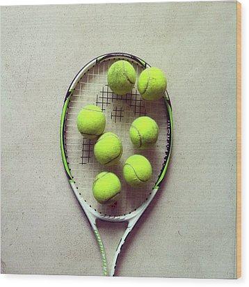 Tennis Wood Print by Shilpa Harolikar
