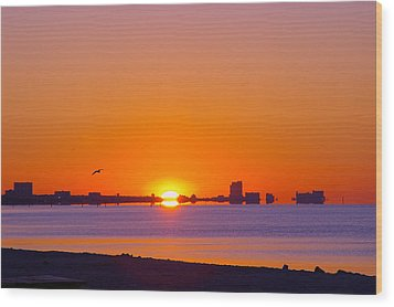 Wood Print featuring the photograph Tequila Sunrise by Brian Wright