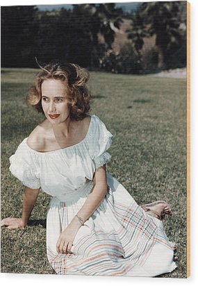 Teresa Wright, Ca. Late 1950s Wood Print by Everett