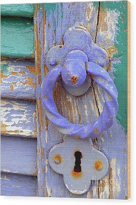 Terrace Door Wood Print by Lainie Wrightson