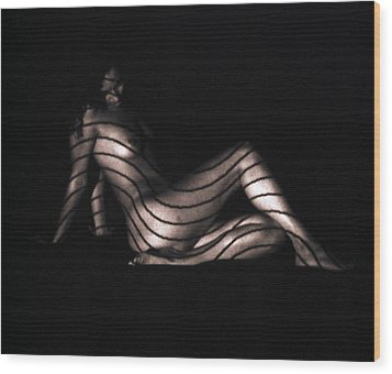 Wood Print featuring the photograph Terri Sitting Up Lines by David Wohlfeil
