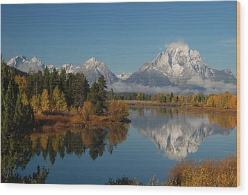 Teton Autumn Wood Print by Craig Ratcliffe
