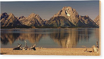 Wood Print featuring the photograph Teton Panoramic by Marty Koch