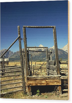 Teton Ranch Wood Print by Marty Koch