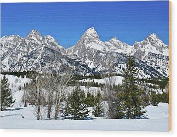 Teton Winter Landscape Wood Print