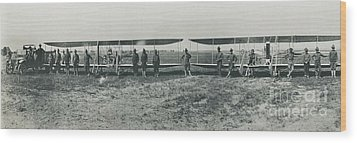 Texas Aero Squadron Wood Print by Padre Art