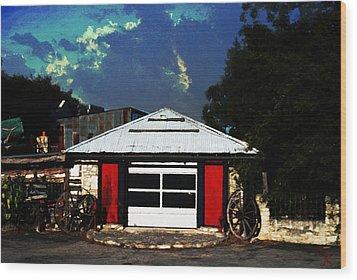 Texas Garage Wood Print by Kelly Rader