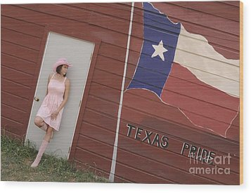 Wood Print featuring the photograph Texas Pride by Sherry Davis