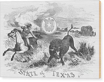 Texas Scene, 1855 Wood Print by Granger