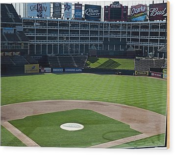 Texas Stadium Wood Print by Malania Hammer