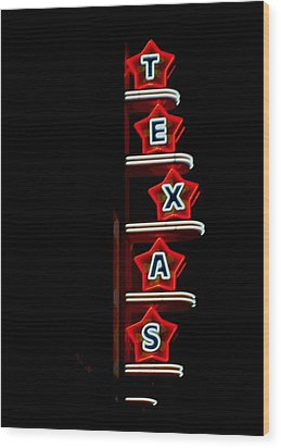 Texas Theater Wood Print by Kitty Geno