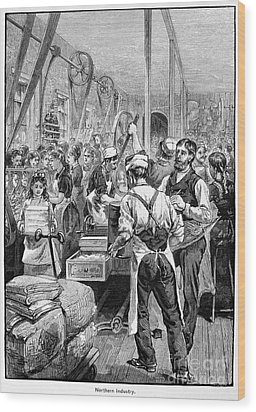 Textile Mill, 1881 Wood Print by Granger