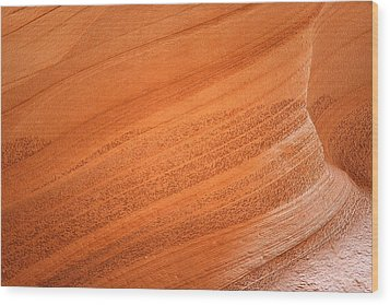 Texture And Light - Antelope Canyon Wood Print by Christine Till