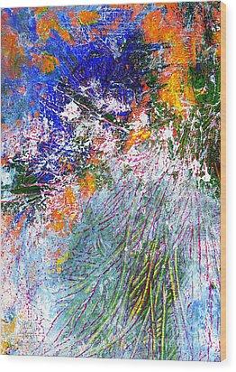 Texture Blue Wood Print