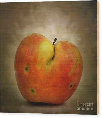 Textured Apple Wood Print by Bernard Jaubert