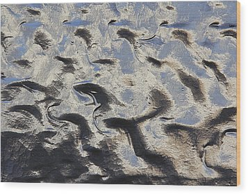 Textured Glass Wood Print by Mike McGlothlen