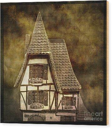 Textured House Wood Print by Bernard Jaubert