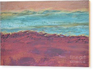 Textured Landscape 2 Wood Print by Barbara Tibbets