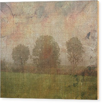 Textured Trees Wood Print by Roni Chastain
