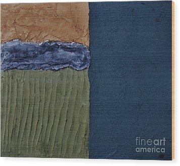 Textures Four Ll Wood Print by Marsha Heiken