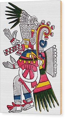 Tezcatlipoca, Aztec God Of Night, Codex Wood Print by Photo Researchers