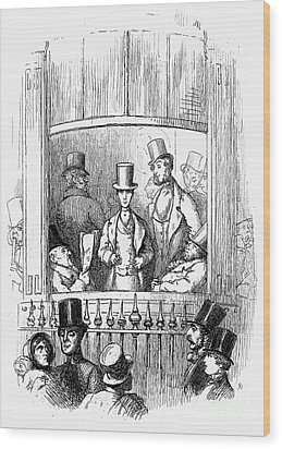 Thackeray: Newcomes, 1855 Wood Print by Granger