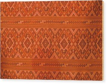 Thai Patterns. Wood Print by Chatchawin Jampapha