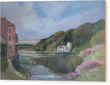 Thames River England By Mary Krupa Wood Print by Bernadette Krupa