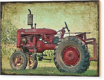 Thank A Farmer Wood Print by Bonnie Barry