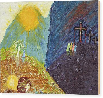 Thank God For Good Friday And Easter Sunday Wood Print by Carl Deaville