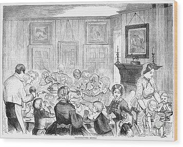 Thanskgiving Dinner, 1857 Wood Print by Granger